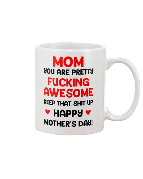 Mom Pretty Awesome Mug - Happy Father's Day 2020