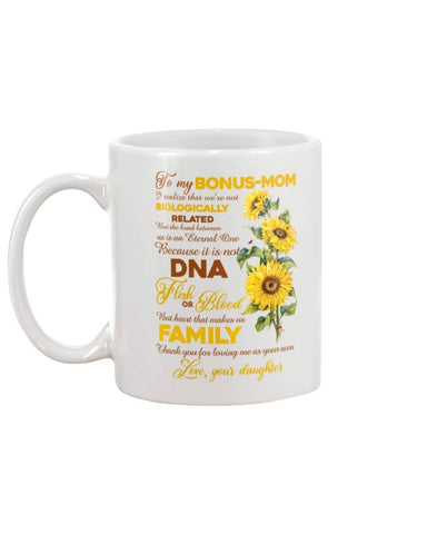 To My Bonus Mom Sunflower Mug - Happy Father's Day 2020