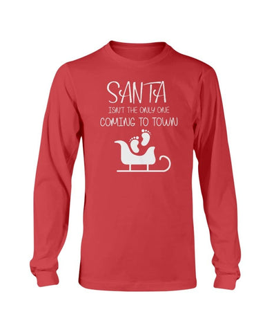 Santa Claus Coming - Christmas Pregnancy Announcement Sweater - christmas 2019
