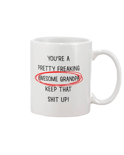 Pretty Freaking Awesome Grandpa Mug - Happy Father's Day 2020