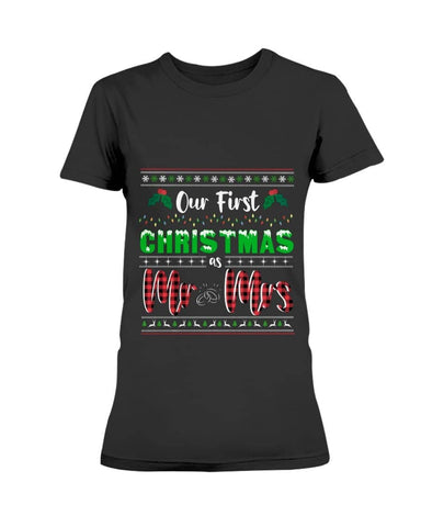 First Christmas as Mr and Mrs Shirt - Happy Father's Day 2020