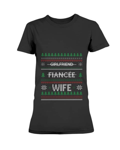 Girlfriend-fiancee-wife ugly sweater Christmas Shirt - Happy Father's Day 2020