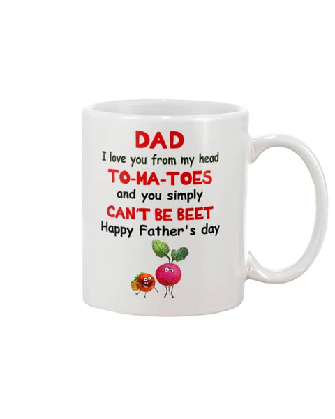 Dad I Love You From Head To-Ma-Toes, Simply Can't Be Beet Happy Father's Day - Happy Father's Day 2020