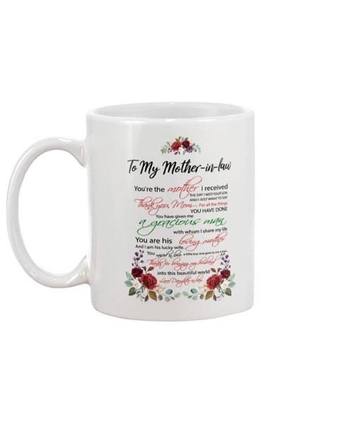 Mothe-in-law I Received Mug - Happy Father's Day 2020