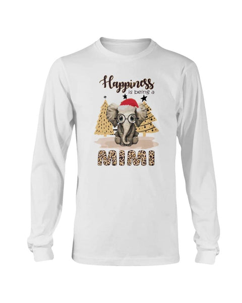 Happiness is being a mimi elephant Christmas Shirt - Happy Father's Day 2020