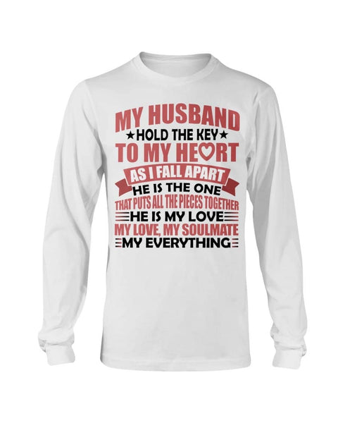 My husband hold key Christmas Shirt - Happy Father's Day 2020