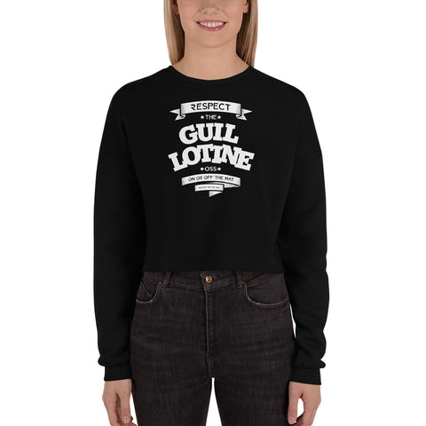 GUILLOTINE Woman's Crop Sweatshirt