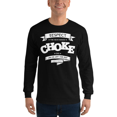 REAR NAKED CHOKE Men's Long Sleeve T-Shirt