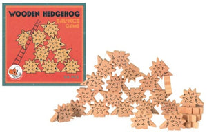 Wooden Hedgehog Balancing Game
