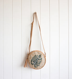 Monstera Bag round