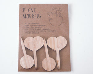 Plant Tags - Mixed Loveheart/Circle