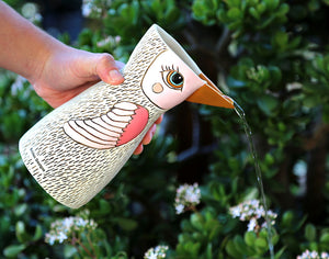 Bird White Watering Can/Vase