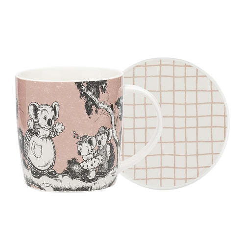 Blinky Bill Mug & Coaster - Coral