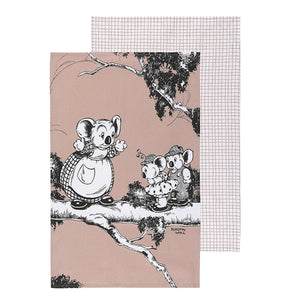 Blinky Bill Tea Towel - Coral Set 2