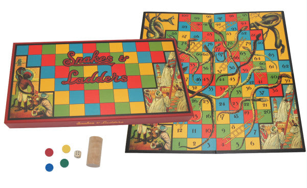 Snakes & Ladders Retro Board Game