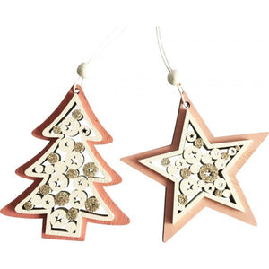 Hanging Wooden Star or Tree