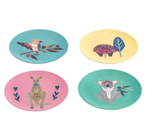Native Friends Bamboo Fibre Plate Set/4