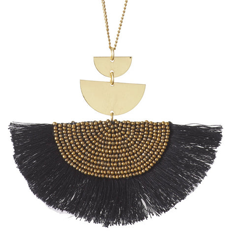 Cetaki Necklace Black