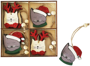 Cat Gift Box Decoration - 8 Pcs