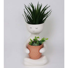 Load image into Gallery viewer, Person Holding a Pot Planter - Pink