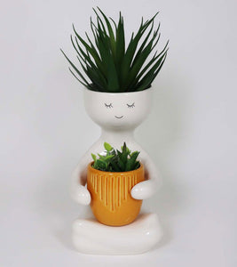 Person Holding a Pot Planter - Saffron