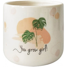 Load image into Gallery viewer, You Grow girl planter White Small 11cm