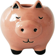 Load image into Gallery viewer, Pig Planter - Pink 12cm