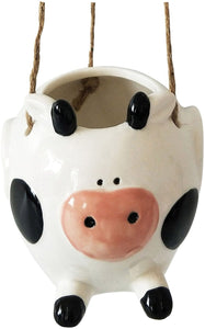 Flying Cow Hanging Planter - 12cm