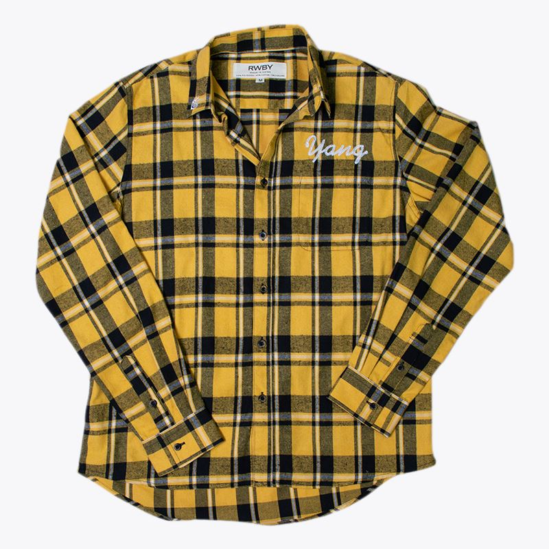 RWBY Yang Long Sleeve Button Down Flannel