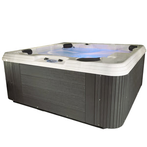 Essential Hot Tubs 50 Jets Polara Sterling Silver Shell, Gray