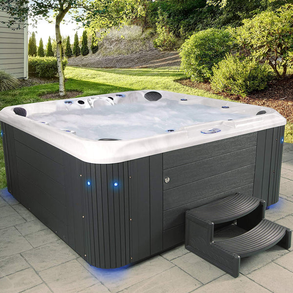 Essential Hot Tubs 80 Jets Regent Hot Tub, Grey