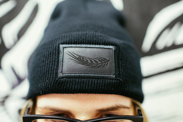 All Black Fold Beanie