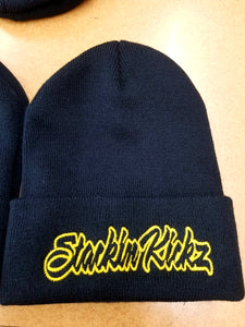 Black/Yellow Beanie