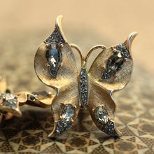 Crown Trifari Butterfly Earrings