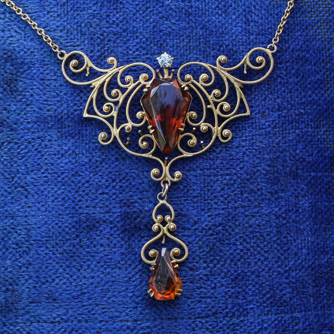 Georgian Revival Lavaliere Necklace