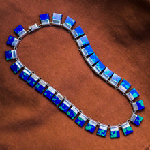 Taxco Sterling Azurite Necklace c1980