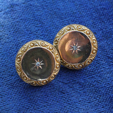 Victorian Diamond Starburst Button Earrings