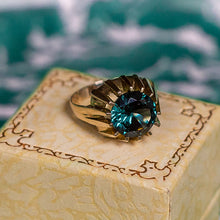 London Blue Topaz Ring c1970