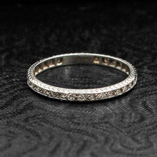 Thin Diamond Eternity Band c1920