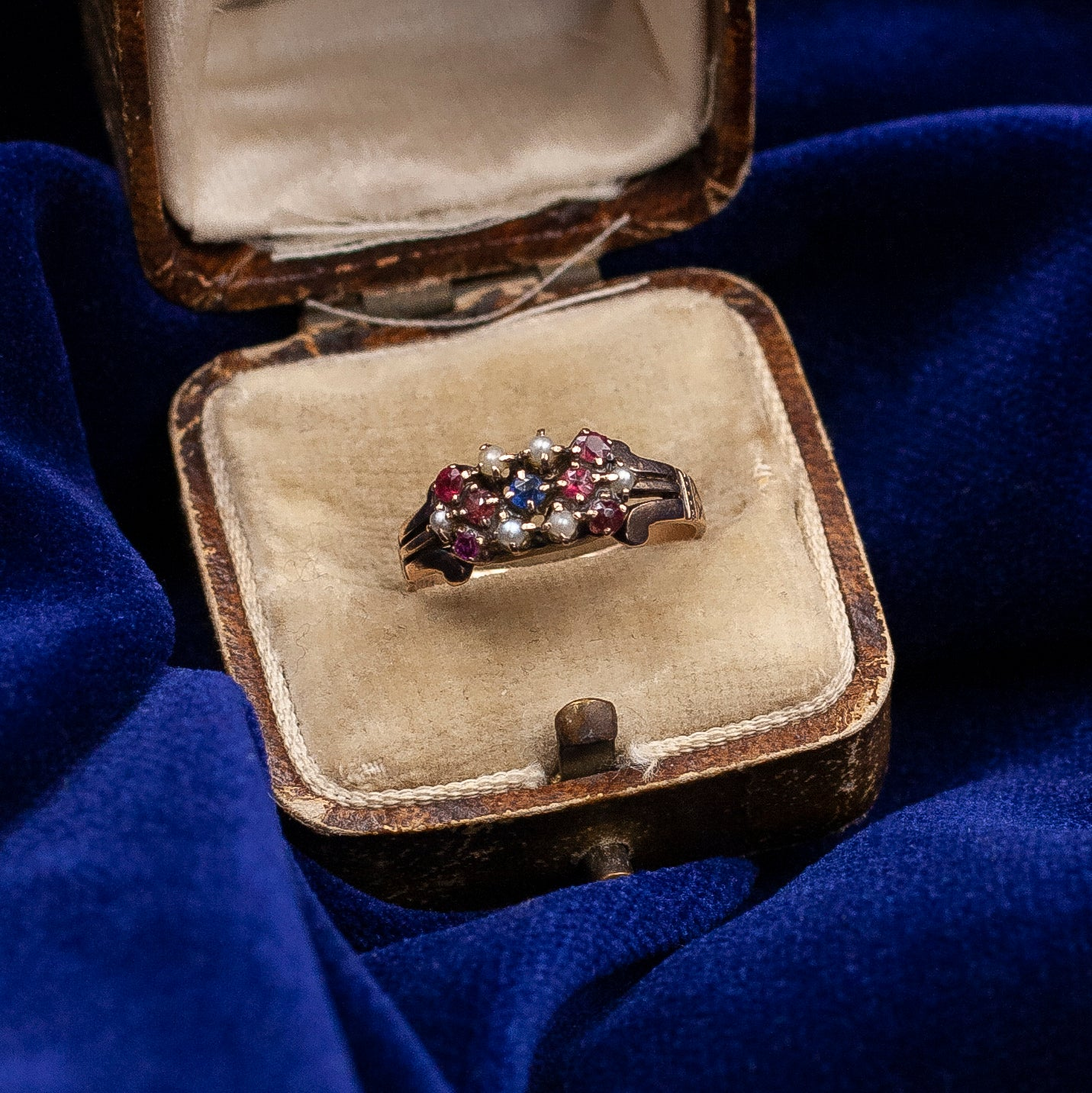 Paste & Seed Pearl Ring c1900