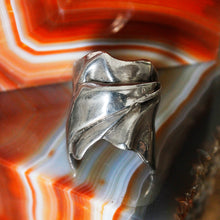 Mid-century 'Pulled Cloth' Sterling Ring