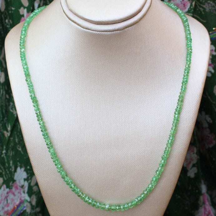 Graduated Faceted Emerald Bead Necklace (65ct)