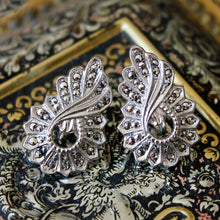 Sterling Silver & Marcasite Earrings c1920