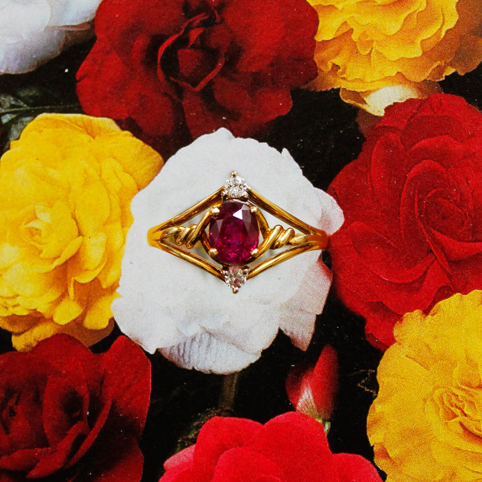 Ruby & Diamond Ring c1970