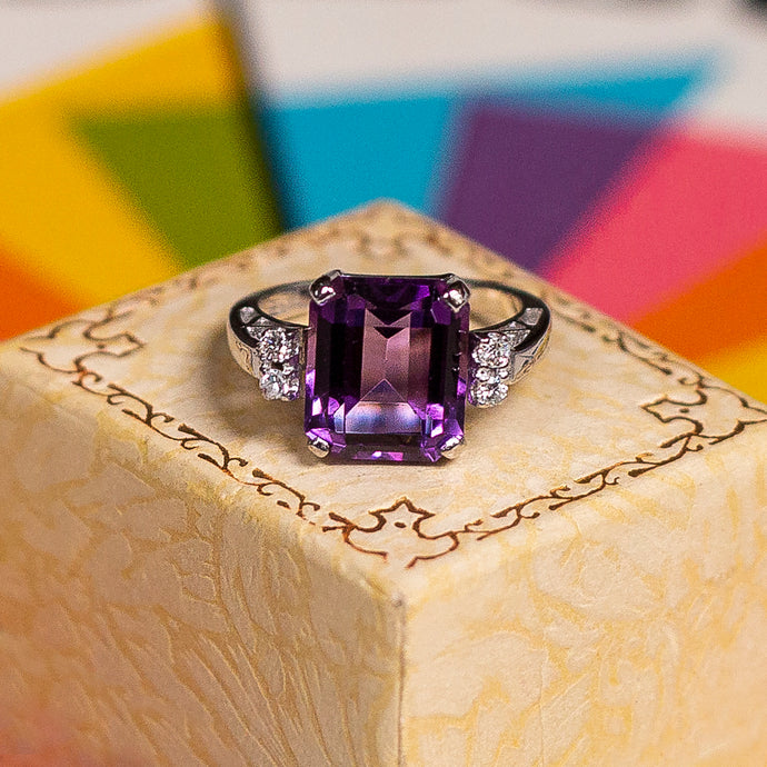 Amethyst Cocktail Ring c1950
