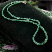 Graduated Faceted Emerald Bead Necklace (57ct)