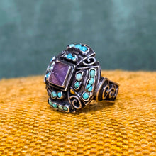 Amethyst & Turquoise Ring by Matl Matilde c1940