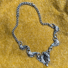 Napier Sterling Leaf Necklace c1940
