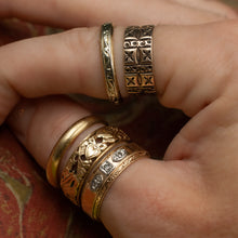 Hand-Pierced Band with Hearts c1930