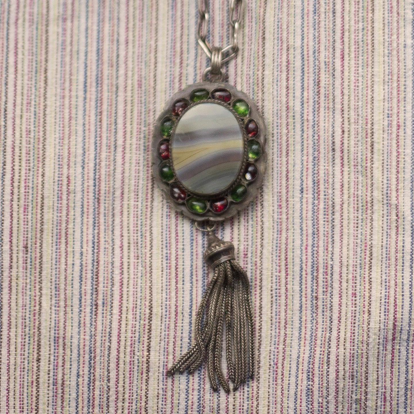Georgian Agate & Paste Pendant c1800